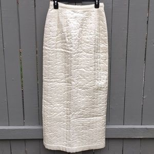 Dries Van Noten Quilted off white skirt size 40